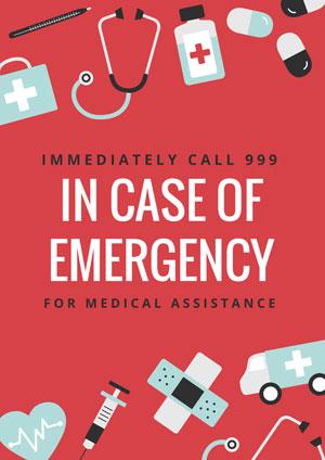 Emergency contact number dubai